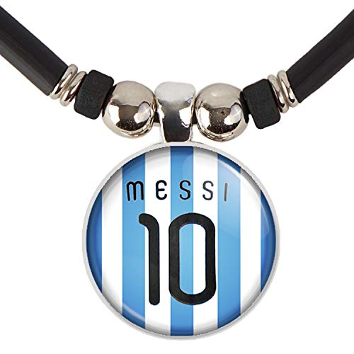 LIONEL MESSI #10 SOCCER JERSEY NECKLACE-LEO MESSI BARCELONA JERSEY NECKLACE- MESSI ARGENTINA JERSEY NECKLACE