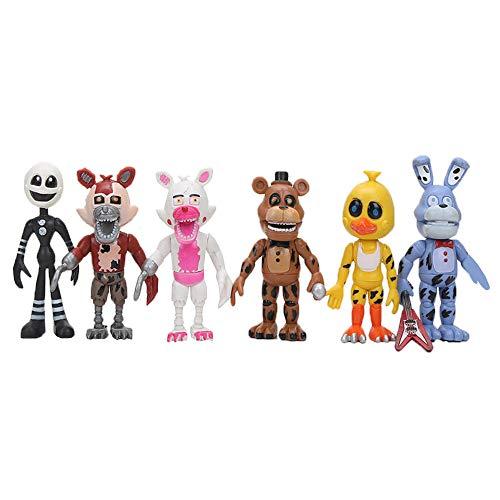 Yhkjkjiswv Five Nights at Freddy'S Estatuilla de Juguete Regalo de cumpleaños de la muñeca de los niños del Oso de Peluche Lindo del Animado de la Personalidad (Color : A01, Size : 12cm)