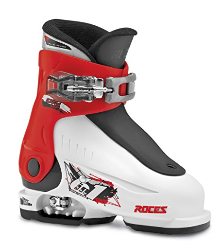 Roces Kinder Skischuhe Idea Up Größenverstellbar, White-Red-Black, 25/29, 450490-015