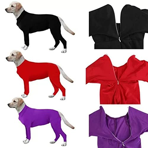 Price comparison product image NONBAWAN Dog Surgical Recovery Suit Thunder Shirts for Dogs Long Sleeve Keep Dog from Licking Abdominal Wound Protector E-Collar Alternative After Surgery Wear Pet Supplier, Blue,  S