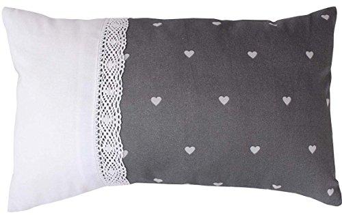 Enjoy Home 70540 gr030050 kussen polyester katoen grijs 50 x 30 cm