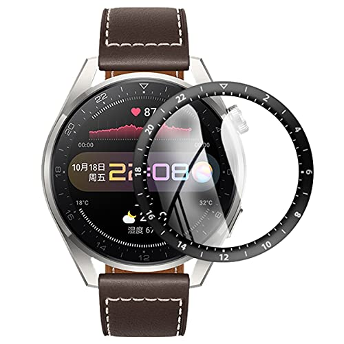 【3 Piezas】 HD Claro Protector de Pantalla Compatible con Huawei Watch 3 Pro, 【Cobertura Completa】 Anti-rasguños Borde Curvo 3D Suave Película Protectora de Reloj Inteligente (Vidrio no Templado)