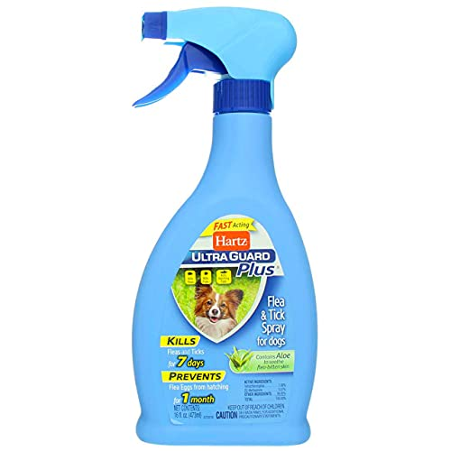 Hartz UltraGuard Plus Flea and Tick Spray for Dogs, 10-Ounce