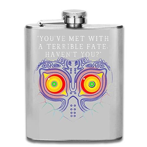 Print Hip Flask Pocket Bottleon Acero inoxidable portátil de 7 oz Youve Met with A Terrible Fate Havent You Legend of Zelda Majoras Mask