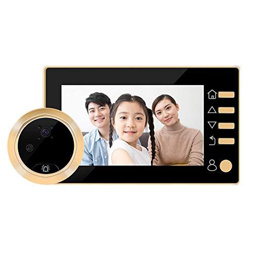 Domybest digitale bel LCD 4,3 inch digitale deurspion 145 graden camera met bewegingsmelder IR (zwart)