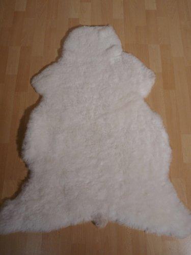 Schaffell Lammfell Fell Kurzhaar weiss 120-130cm