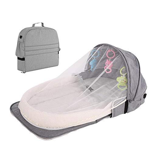 Suppemie Mosquitera para juguetes, cesta para dormir, bolsa de pañales plegable, bolsa de pañales para cama, multiusos, bolsa de viaje plegable, fácil de llevar