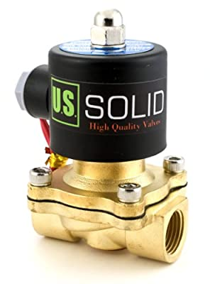 """1/2"""" Brass Electric Solenoid Valve 24VAC Air Water NBR Normally Closed by U.S. SOLID"""