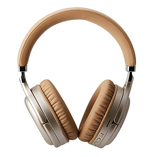 Yaochen TM-061 Wireless Headset Bluetooth Headset Foldable Noise Reduction Gaming Headphone 2.0ghz Ultra-Low Latency with Surround Sound, Long Lasting Battery Up to 4 Hours (Golden)