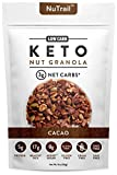 NuTrail - Keto Cacao Nut Granola Healthy Breakfast Cereal - Low Carb Snacks & Food - 3g Net Carbs - Almonds, Pecans, Coconut and more (11 oz) (1 Count)