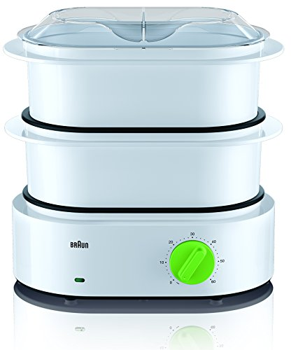 Braun Tribute Collection FS 3000 Dampfgarer (850 W) weiß/grün