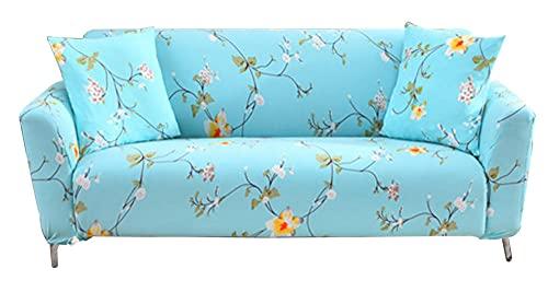 HXTSWGS Super Stretch Couch Bezug,Elastische Sofabezug, Bedruckte Sofabezug, Nicht-Sofabezug, Geeignet für Kinder, Pets-Blue_90-140cm