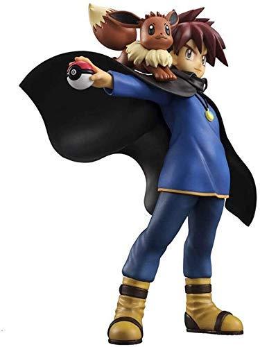 Taoke Pokemon Figur Gary Oak Eevee Statue Anime Geschenke for Pokemon Fans Pokemon Action-Figuren 8bayfa