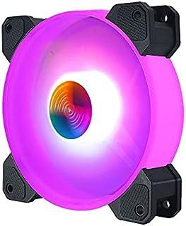 بندل 6 مراوح كمبيوتر ألوان متعددة ومتحكم مراوح وريموت كونترول