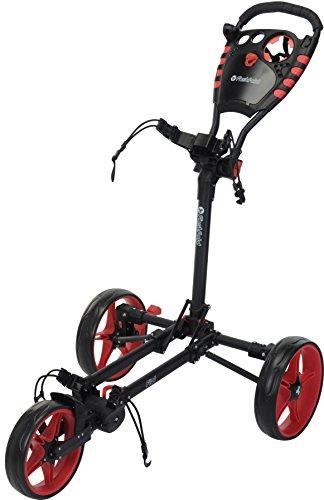 Fast Fold Flat Push Golf Trolley-Rot