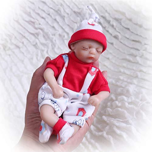 Nicery Reborn Baby Doll Muñeca Renacida Vinilo de Silicona de Simulación Suave 8 Pulgadas 20cm Realista Vivo Niño Niña Juguete Pantalones Rojo RD20C003GC