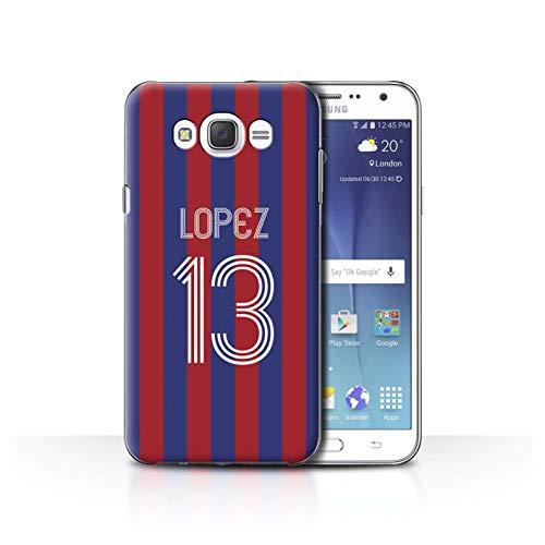 Personalizado Kit Camiseta Club Fútbol Euro Personalizar Funda para el Samsung Galaxy J7 (2016) / Carmín Azul Diseño/Inicial/Nombre/Texto Carcasa/Estuche/Case