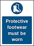 El calzado protector debe ser usado. signo