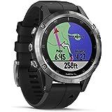 Garmin Fenix 5 Plus - Reloj GPS Multideporte, Plata con Corr