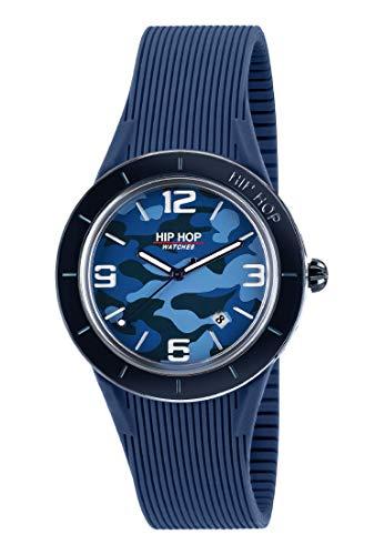 Orologio HIP HOP uomo X MAN quadrante blu e cinturino in silicone, metallo blu, movimento SOLO TEMPO - 3H QUARZO