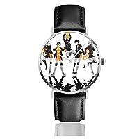 Haikyuuハイキュー 腕時計 本革 ベルト ウォッチ メンズ レディース 多機能 クロノグラフクォーツウォッチ 女性男性カレンダー 防水 うで時計