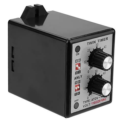 Aan uit tijdrelais, aan uit dubbele tijdrelaisknop controle tijdschakelaar 6S-60M AC 220V