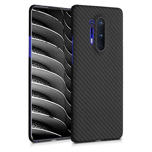 kalibri Hülle kompatibel mit OnePlus 8 Pro - Aramid Handy Schutzhülle - Cover Case Handyhülle Schwarz matt