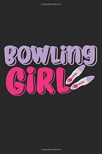 Bowling Girl: A5 Notizbuch, 120 Seiten liniert, Bowling Mädchen Frau Frauen Bowling Schuhe