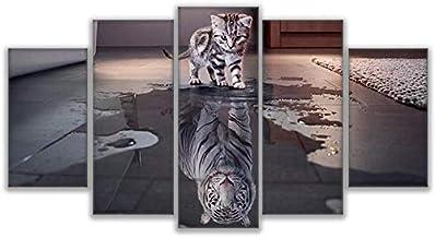 لوحات تزيينية ديكور منزلي جداري حرفية متعددة الوسائط Cat