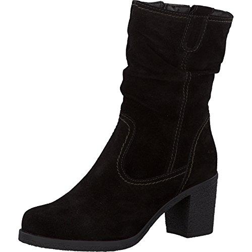 Tamaris Damen Stiefel 26724-33, leger Boots lederstiefel reißverschluss Damen Frauen weibliche Lady Ladies feminin elegant Women,Black,41 EU / 7.5 UK