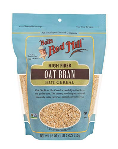 Bob's Red Mill Resealable Oat Bran Hot Cereal 18 Ounce (Pack of 4), 1.12 Pound (Pack of 4) (96491)
