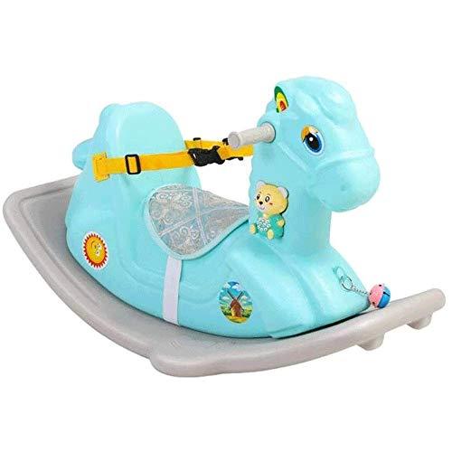 XWX Baby Spielzeug Rocking Auto Einjähriges Geschenk Mit Musik 1-2 Jahre Altes Baby Rocking Horse (Color : Blue)