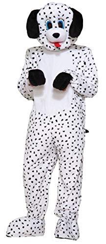 Forum Novelties Men's Dotty The Dalmatian Plush Mascot Costume, Multi Colored, One Size