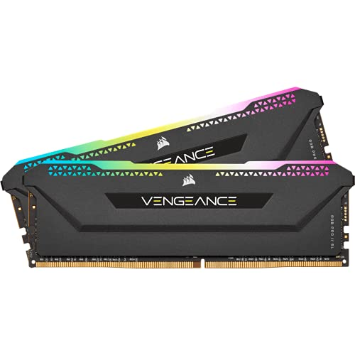 Corsair Vengeance RGB PRO SL 16GB (2x8GB) DDR4 3600 (PC4-28800) C18 1.35V Desktop Memory - Schwarz