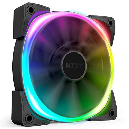 NZXT AER RGB 2-120 mm - Uitgebreide verlichtingsaanpassingen - gebogen ventilatorbladpunten - Fluid-Dynamic lager - LED RGB PWM ventilator voor HUE 2 - per verpakking
