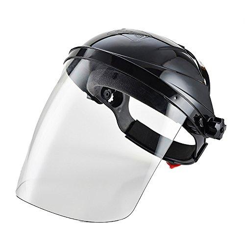 Gesichtsschutzmaske transparent Sicherheit Schutz der Augen Visier schwarz