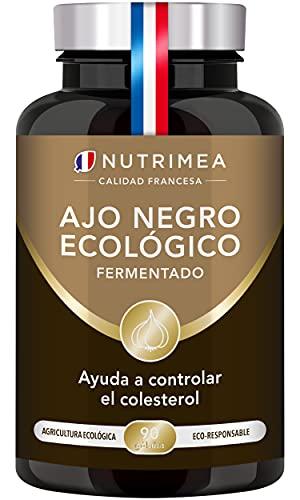 Ajo Negro Fermentado Nutrimea l Bajar Colesterol Antioxidante Natural | 90 Cápsulas de Origen Vegetal Fabricado en Francia
