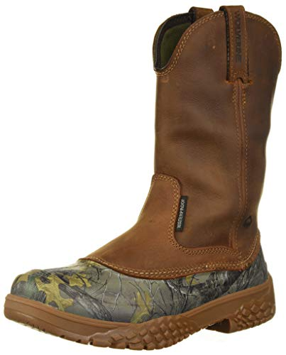 """Wolverine Men's Yak Camo 10"""" Construction Boot, Real Tree, 13.0 Extra Wide US"""