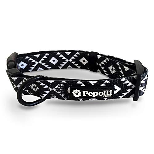 Pepolli Hundehalsband verstellbar | für Französische Bulldogge, Frenchie, Frenchbulldog, Mops | Gr. M (Hawaii)