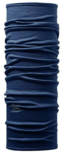 Buff Solid, Scaldacollo in Lana Merino Unisex – Adulto, Denim, Taglia Unica
