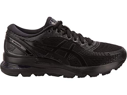 ASICS Women's Gel-Nimbus 21 Running Shoes, 10M, Black/Black
