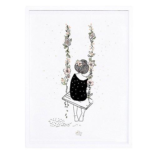 30 x 3 x 40 cm Lilipinso P0257C Affiche et Cadre Tropique Papier Rose