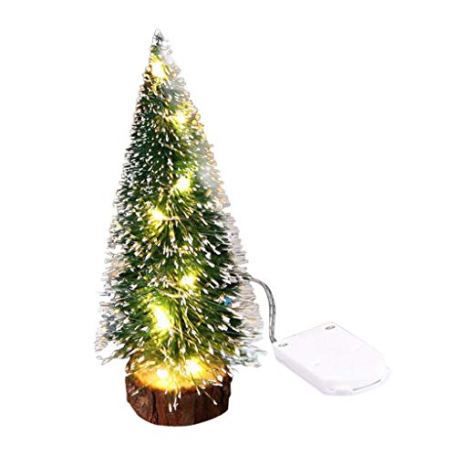Mini Christmas Tree LED Lichterkette, Nourich Weihnachtsschmuck Desktop Dekoration mit Leuchten Stimmungslichter Lichterkette Gartenlichter (M)