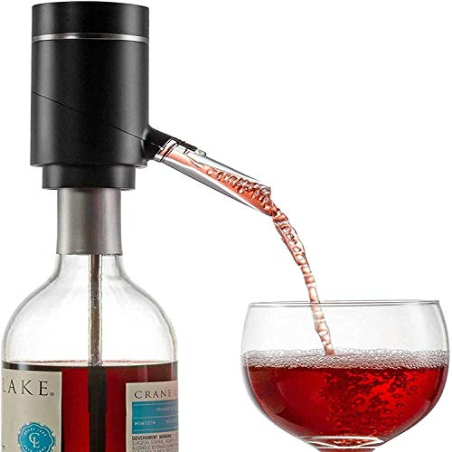 AMOYEE Decantador de aire de vino eléctrico.Bomba de dispensador de recarga USB portátil de USB |Función de aire acondicionado de un tacto, oxigenación instantánea.Premium enriquecido smoother degusta