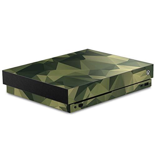 DeinDesign Skin kompatibel mit Microsoft Xbox One X Folie Sticker Camouflage Tarnmuster Bundeswehr