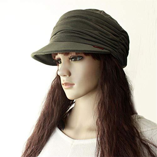 TAOBAOMAO hoed voor vrouwen winter herfst en winter vrouwen van gemiddelde leeftijd en ouderen pruik 42