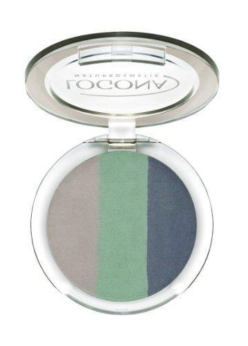 LOGONA Naturkosmetik Eyeshadow Trio No. 04 Ocean, Natural Make-up, Lidschatten, abgestimmte Farben, für einen Tages-oder Abendlook, mit Anti-Aging-Wirkung, Bio-Extrakte, 4 g