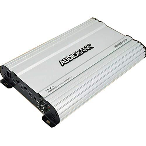 Audiobank Monoblock 3000 WATTS Amp Class AB Car Audio Stereo Amplifier P3001 Heavy-Duty Aluminum Alloy Heatsink | Class A-B Operation Remote On/Off Circuit