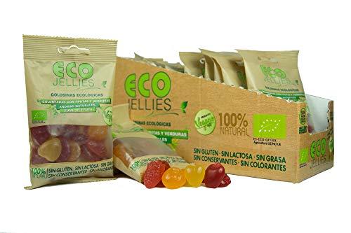 Burmar - Eco Jellies | Surtido De Chuches Veganas con Forma de Frutas, 100% Naturales y Ecológicas, Sin Gluten y Sin Lactosa | Caja con 12 bolsas de gominolas de 75 g