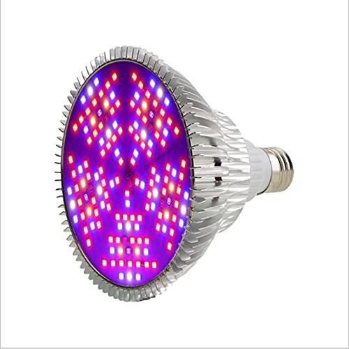 Luz LED para plantas de interior, luz solar de espectro completo, con bombillas blancas rojas azules, lámpara de planta de alto rendimiento integrada, para invernadero, enchufe y juego